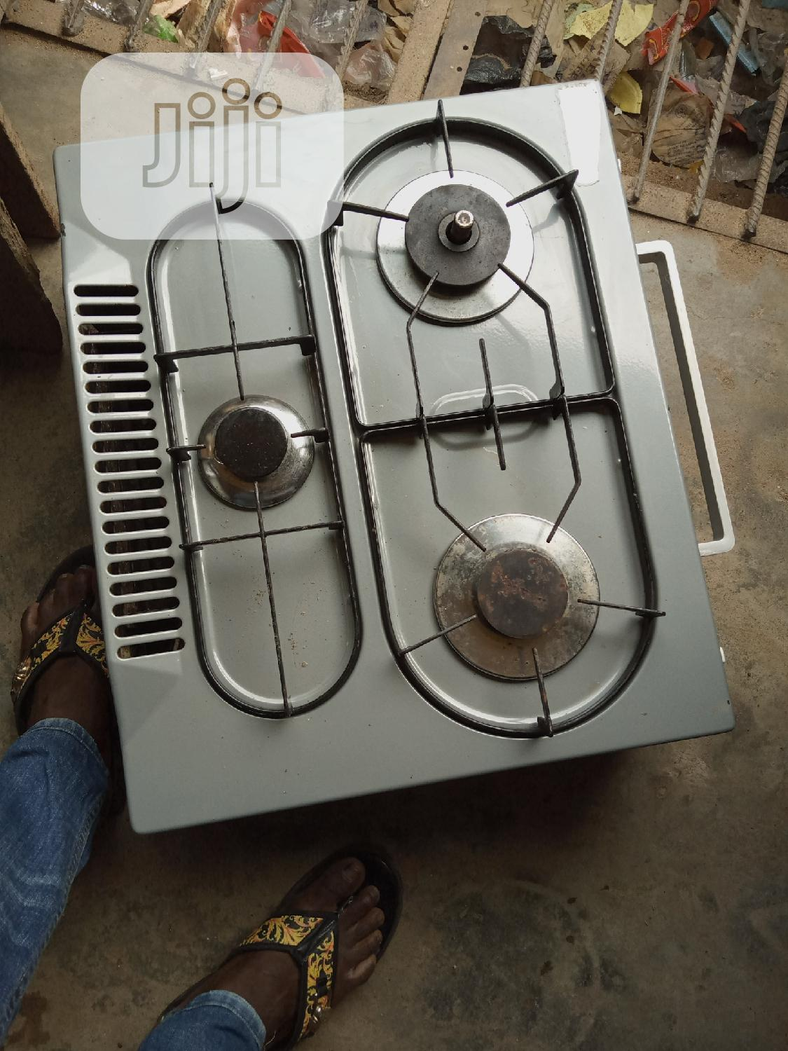 UK Fairly Used Table Top 3 Bunner Gass Cooker | Kitchen Appliances for sale in Ikeja, Lagos State, Nigeria