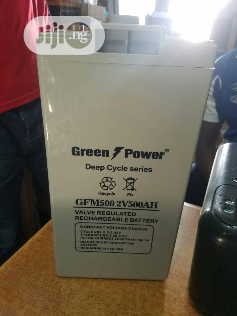 Archive: Green Power 2V 500 Ah Deep Cycle Battery
