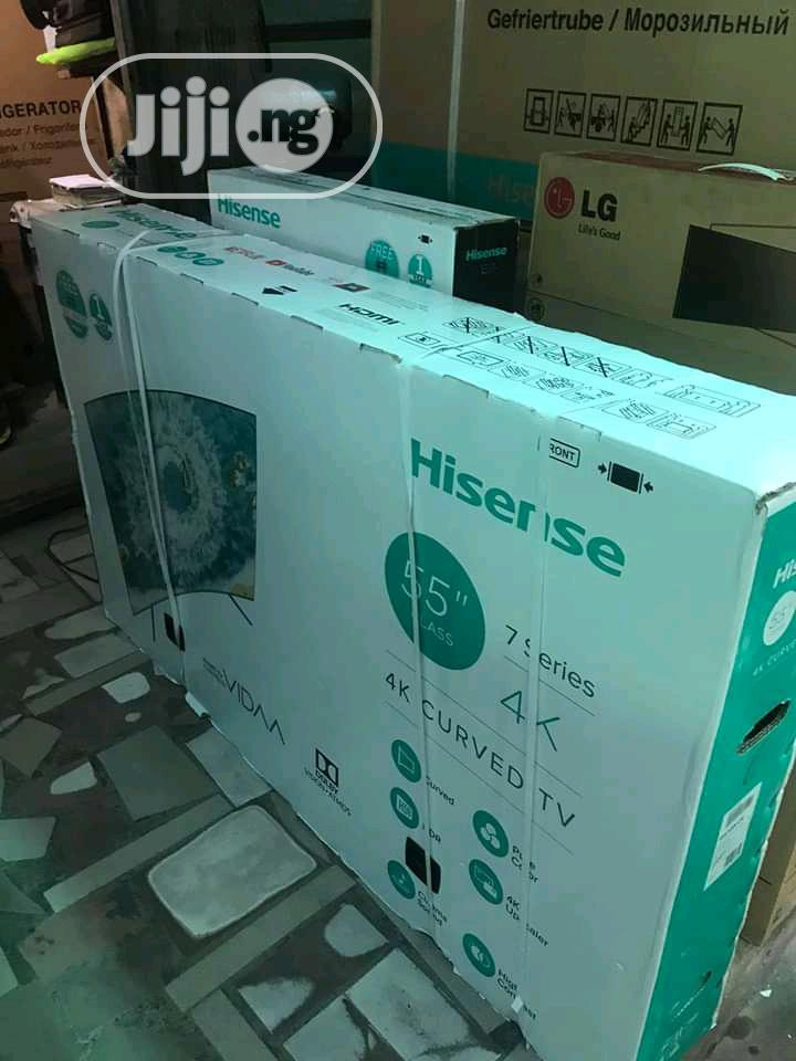 Hinsense 55 Curve UHD 4K Smart TV Series+ | TV & DVD Equipment for sale in Ojo, Lagos State, Nigeria
