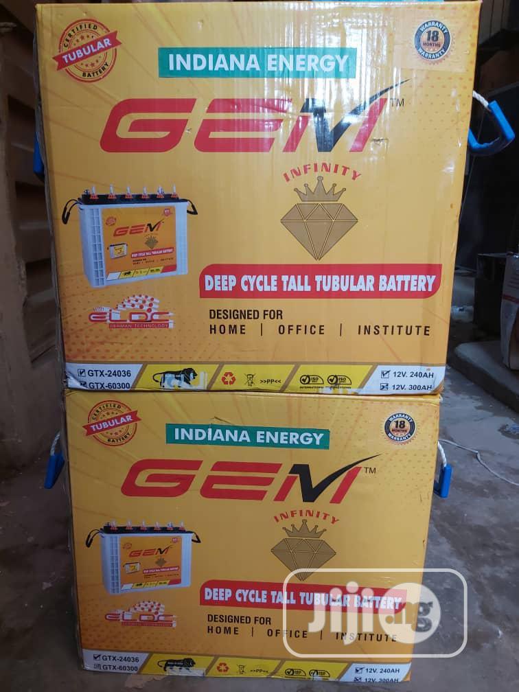 Gem Indian Energy 12V 240ah Tall Tubular Battery