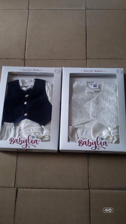 Babylia Baby Boy Christening Cloth Set