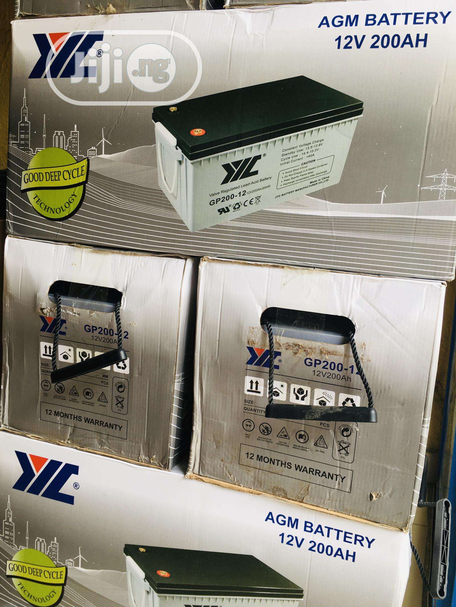 200ah 12v JYC Solar Battery Available With 1yr Warranty   Solar Energy for sale in Amuwo-Odofin, Lagos State, Nigeria