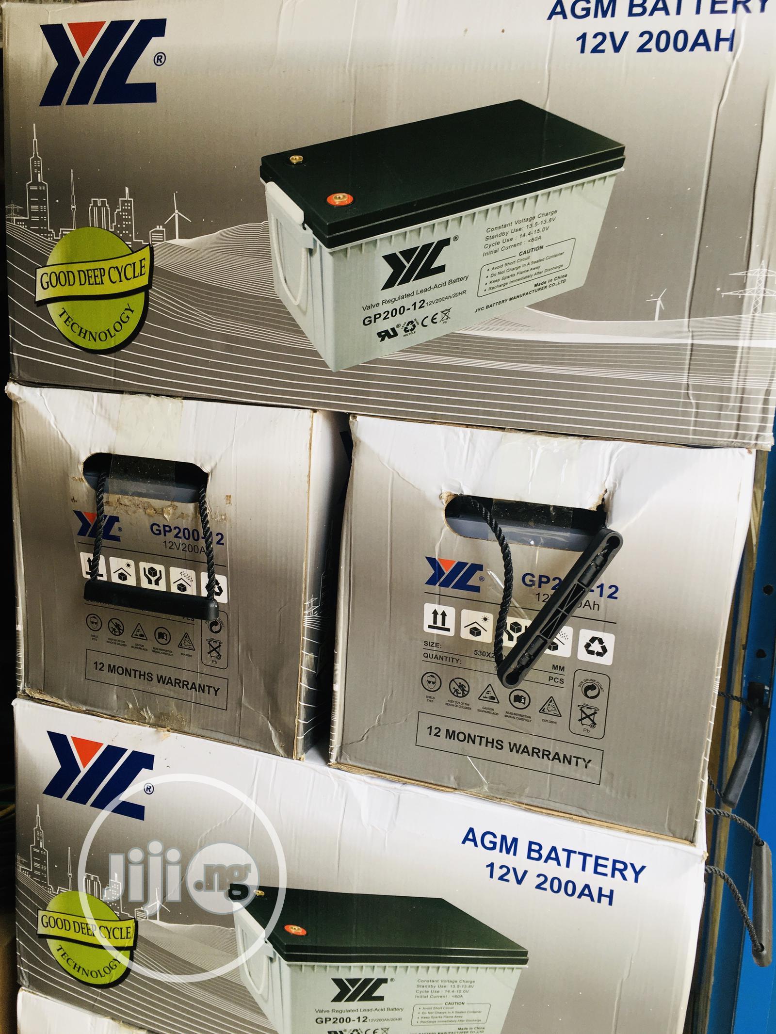 200ah 12v JYC Solar Battery Available With 1yr Warranty