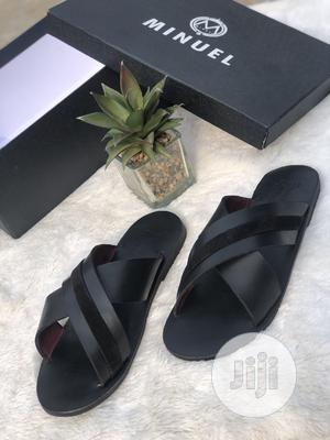 Black Leather Cross Palm   Shoes for sale in Lagos State, Mushin