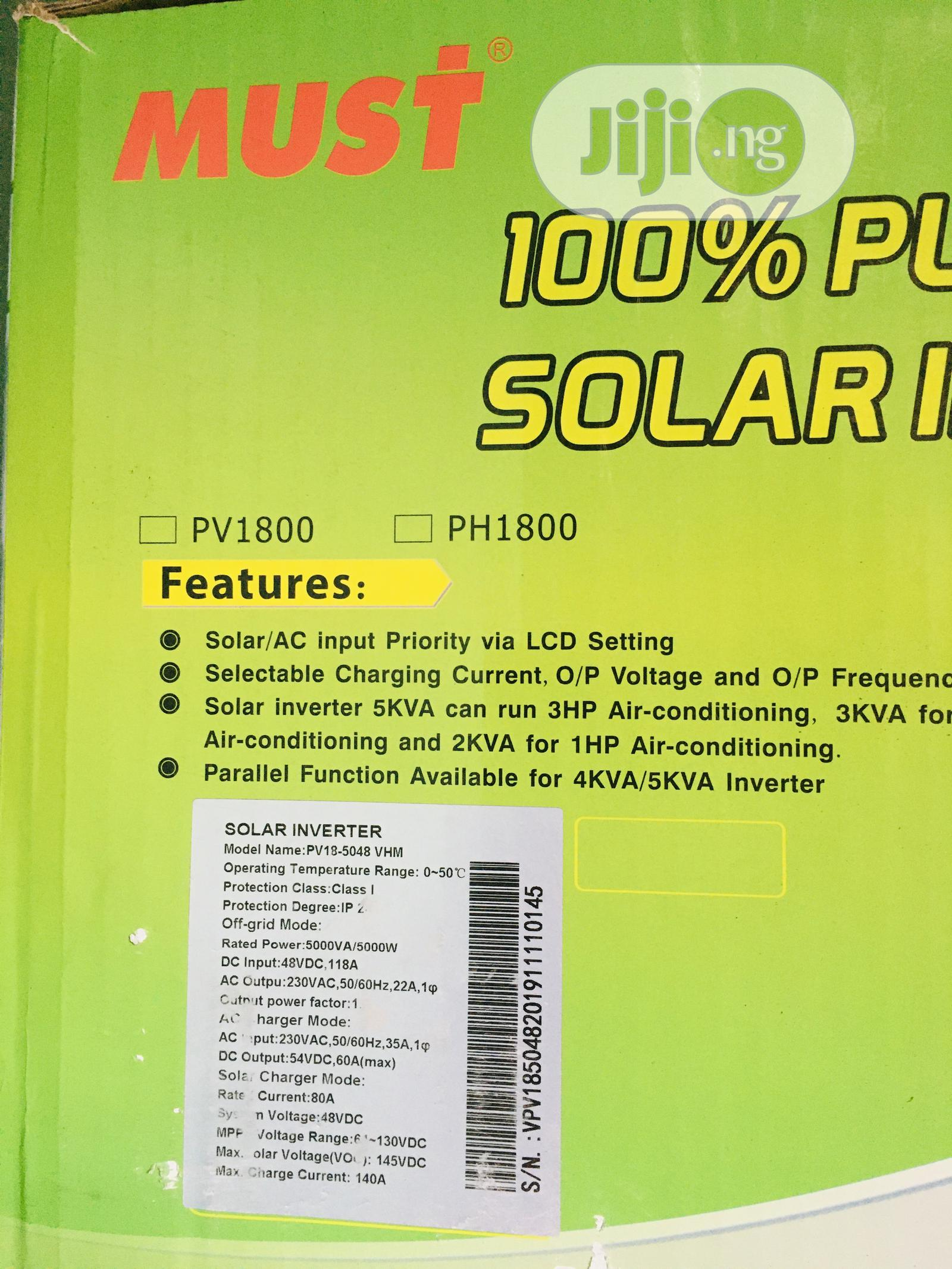 5kva 48v MUST Hybrid Inverter Available With 1yr Warranty | Solar Energy for sale in Lekki Phase 1, Lagos State, Nigeria