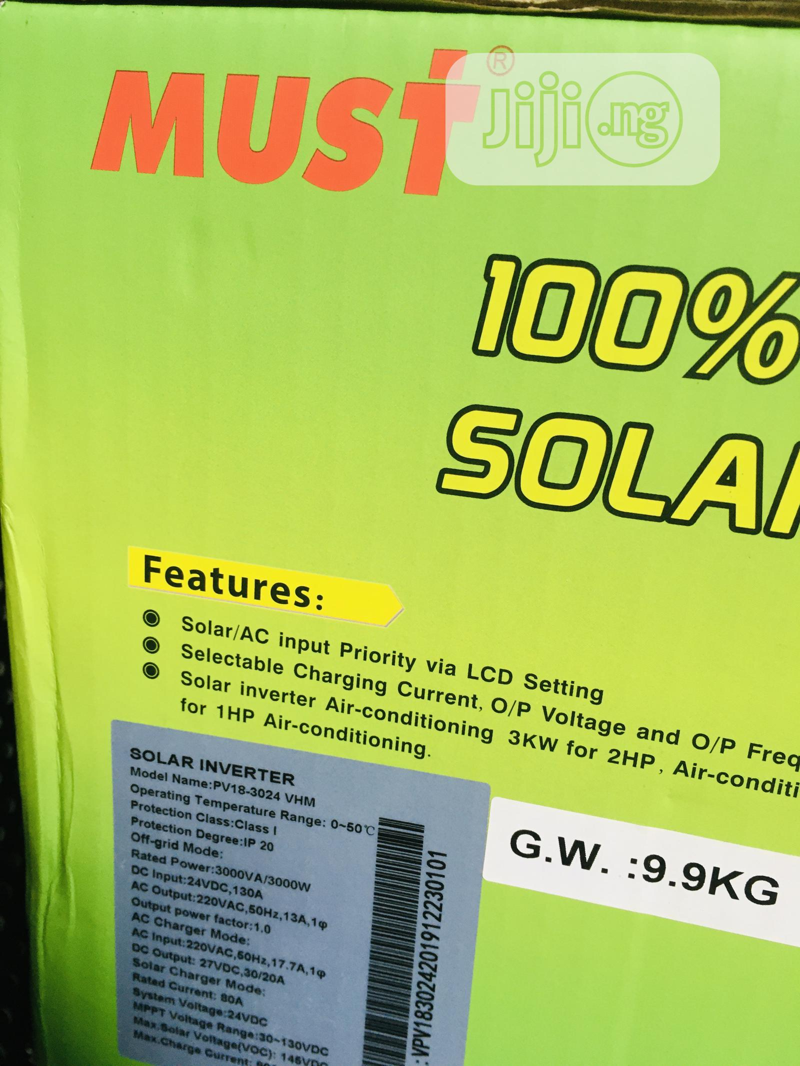 3kva 24v MUST Hybrid Inverter Is Available   Solar Energy for sale in Lagos Island, Lagos State, Nigeria