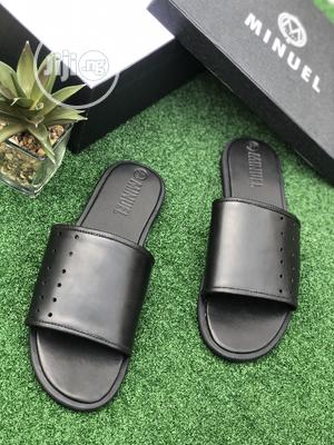 Black Leather Cover Palm   Shoes for sale in Lagos State, Mushin