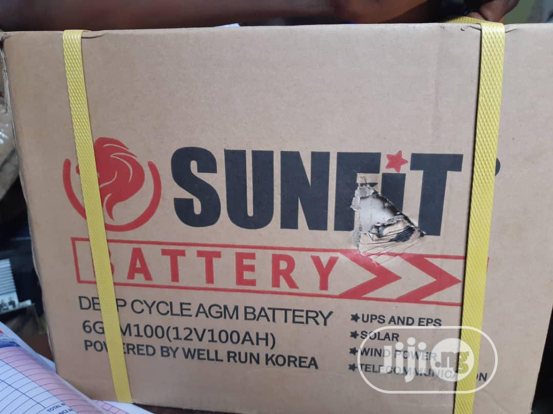 12v100amps Sunfit Battery With 1 Yr Warranty