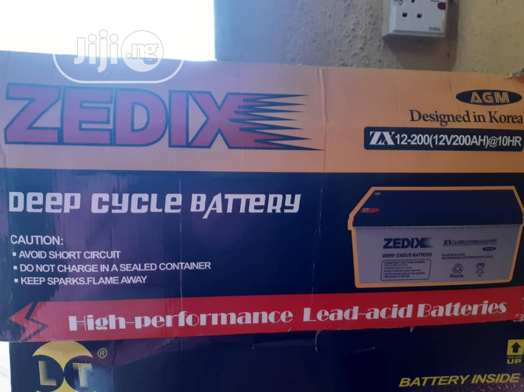 12v200amps Zedix Inveter Battery With 1yr Warranty