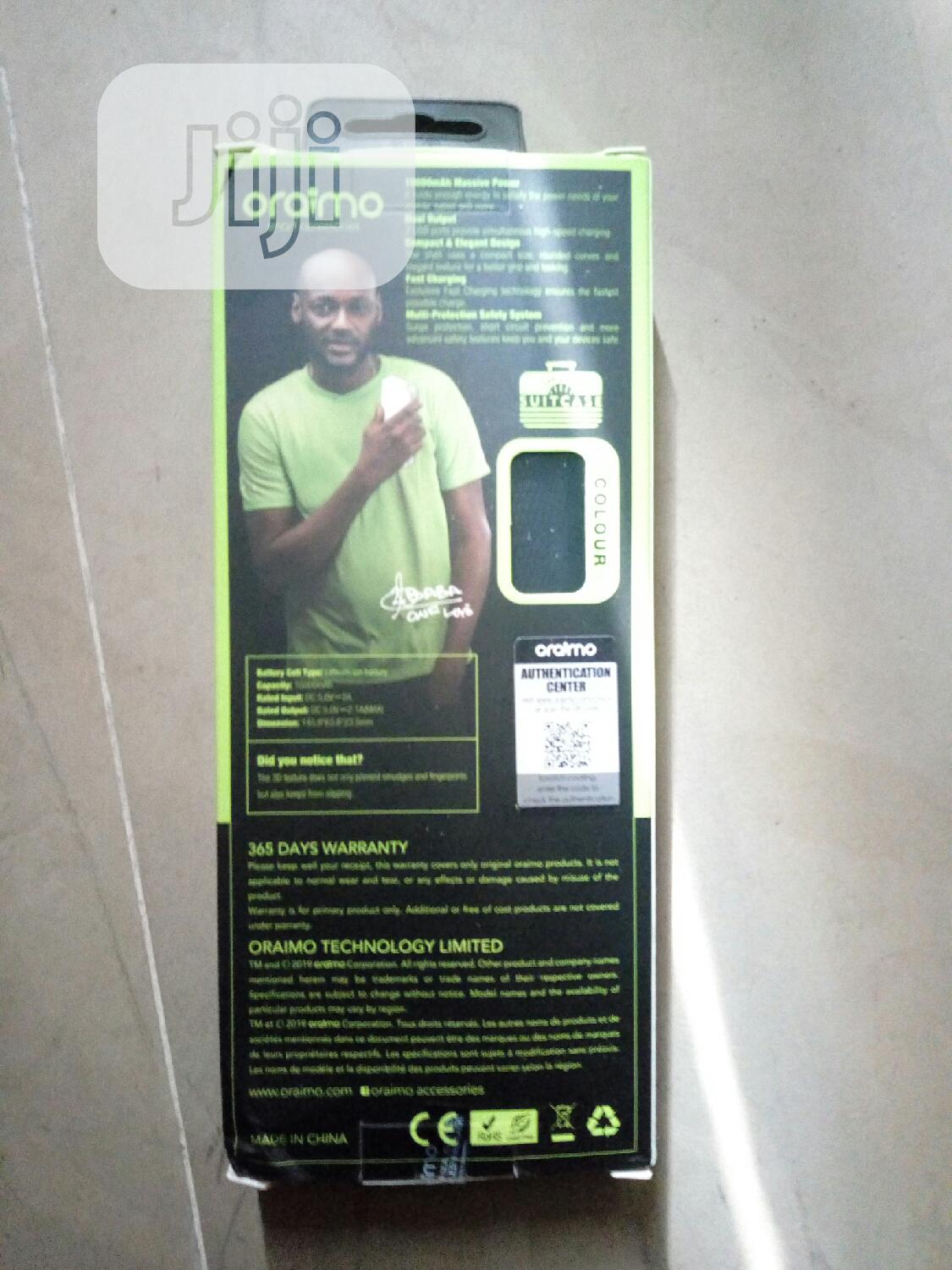B104D Oraimo Power Bank Charges Faster | Accessories for Mobile Phones & Tablets for sale in Ikeja, Lagos State, Nigeria