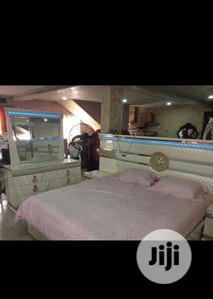 Original Quality Royal White Bed With Mirror Console And Wardrobe   Furniture for sale in Lagos State, Magodo
