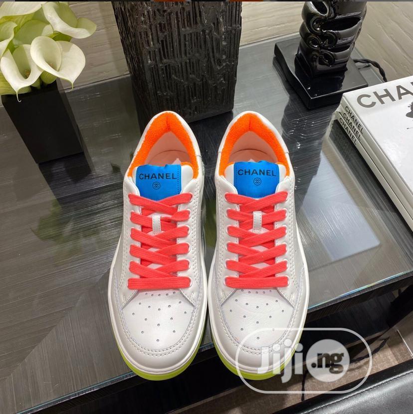 "Archive: Coco Chanel Calf Skin ""Deluxe White"" Sneakers"