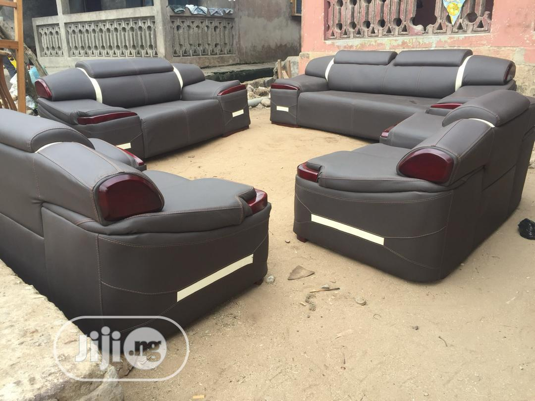 Complete Set of Black Leather Chair