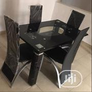 Quality Glass Dining Table With Four Chairs | Furniture for sale in Lagos State, Lekki Phase 2