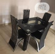 Unique Quality Glass Dining Table With Four Chairs | Furniture for sale in Lagos State, Magodo