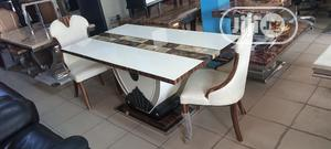 Quality Marble Top Dinning With 6 Chairs   Furniture for sale in Lagos State, Badagry