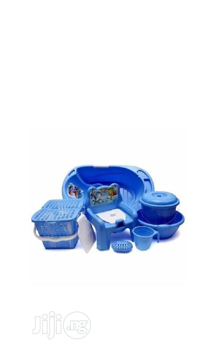 Archive: Baby Bath Set - 7pcs -blue