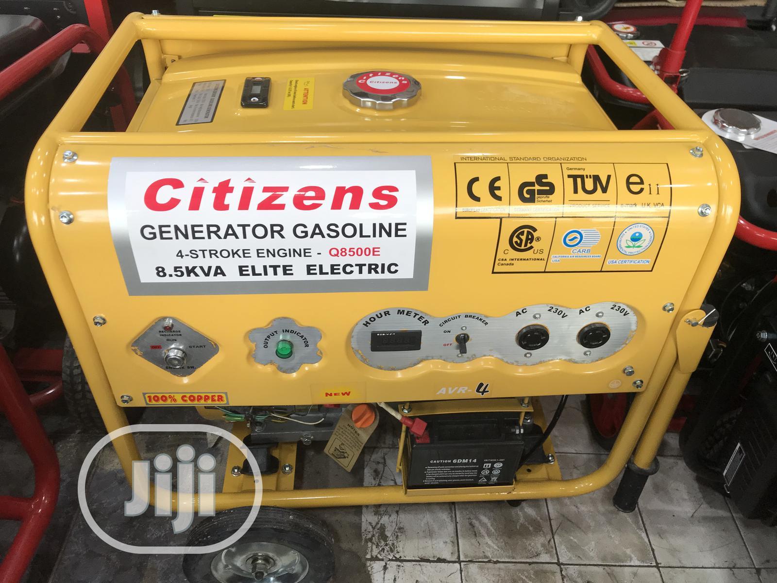 Brand New Citizen Gasoline Q8500E 9KVA   Electrical Equipment for sale in Yaba, Lagos State, Nigeria