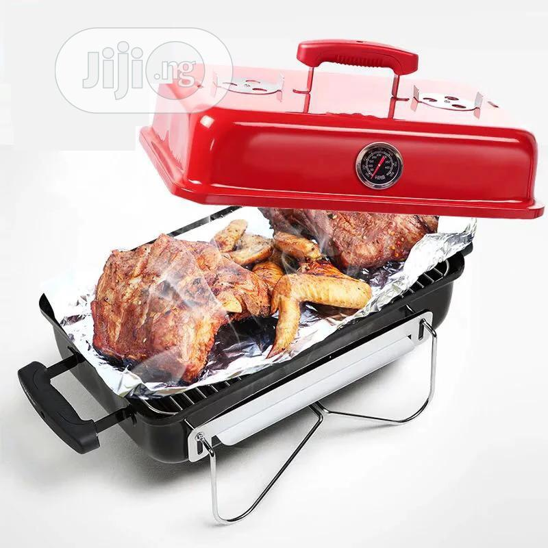 Portable Charcoal Barbecue Grill With Cover