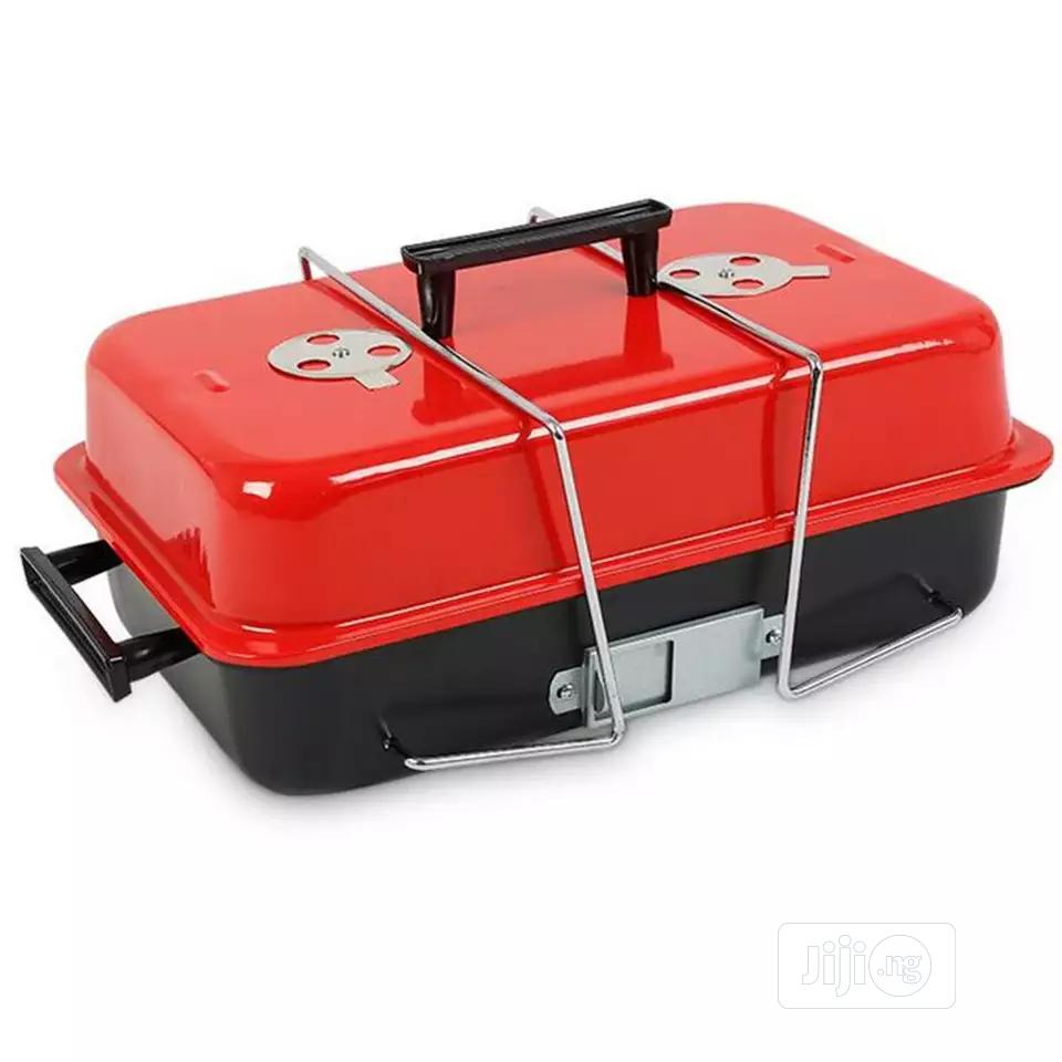 Portable Charcoal Barbecue Grill With Cover | Kitchen Appliances for sale in Lagos Island (Eko), Lagos State, Nigeria