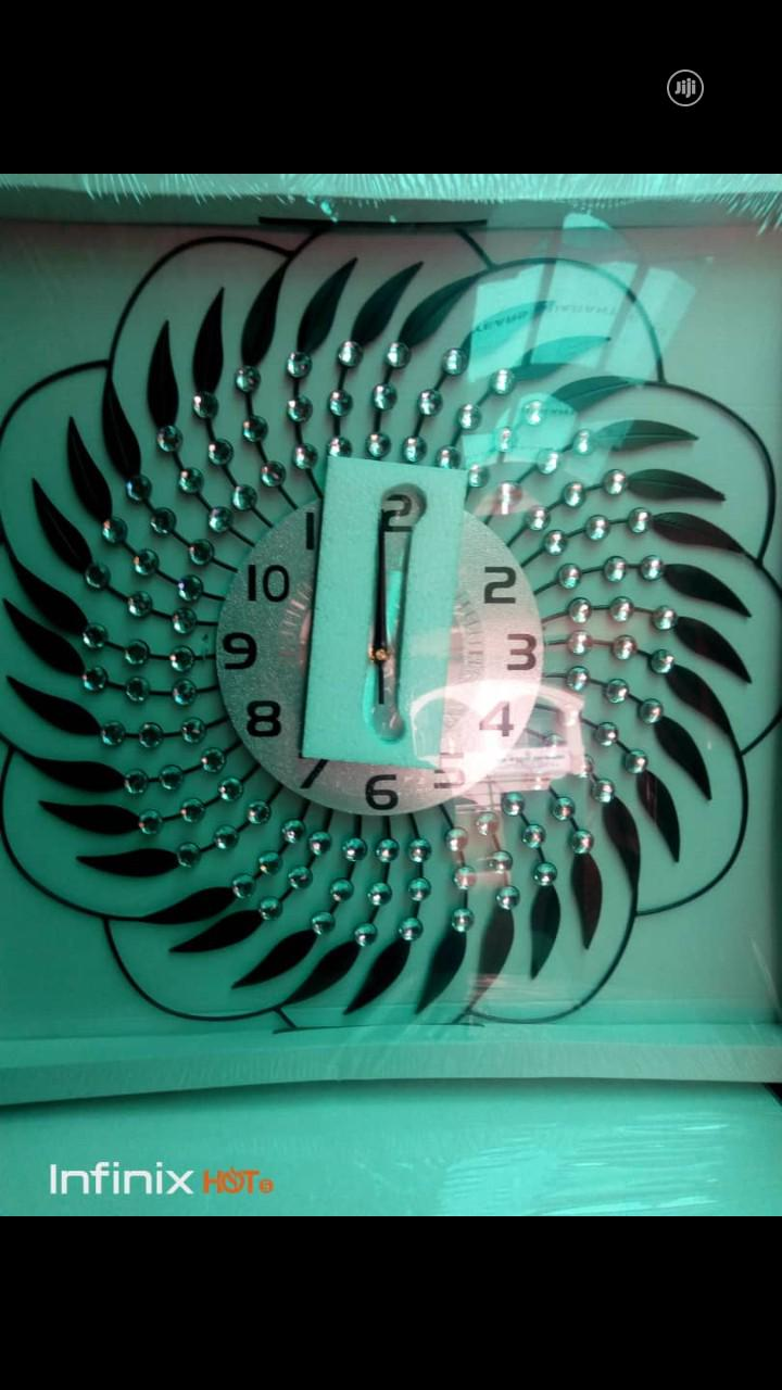 Designed Wall Clock | Home Accessories for sale in Alimosho, Lagos State, Nigeria