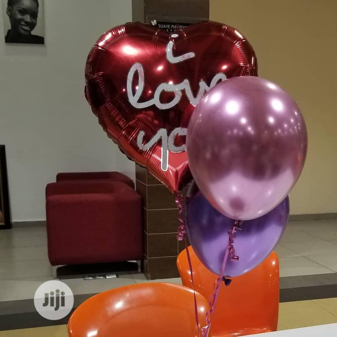 Balloons Filled With Helium Gas