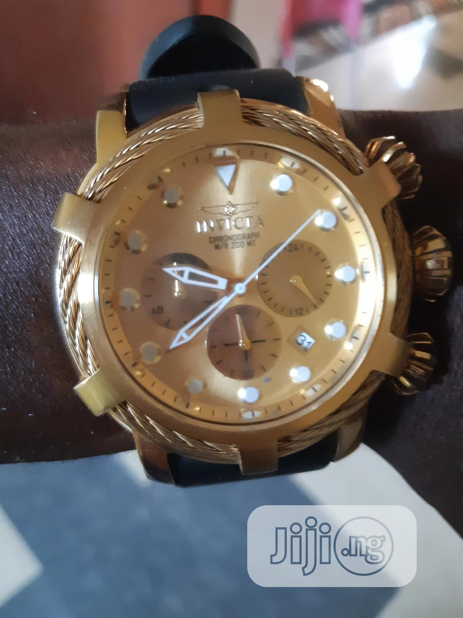 Invicta Gold Wrist Watch For Sale | Watches for sale in Okpe, Delta State, Nigeria