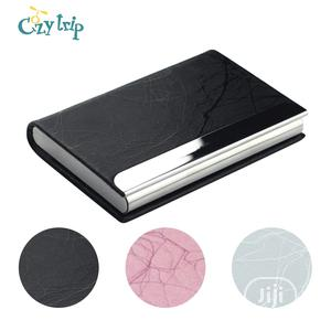 Business Card Holder Luxury PU Leather And Stainless Steel Name Card   Bags for sale in Lagos State, Lagos Island (Eko)