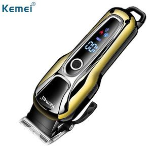 Kemei Rechargeable Hair Clipper With Led Battery Display | Tools & Accessories for sale in Lagos State, Lagos Island (Eko)