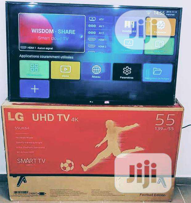 High Quality LG LED 55-inch Smart Internet 4K Wifi (55UK64) Warranty