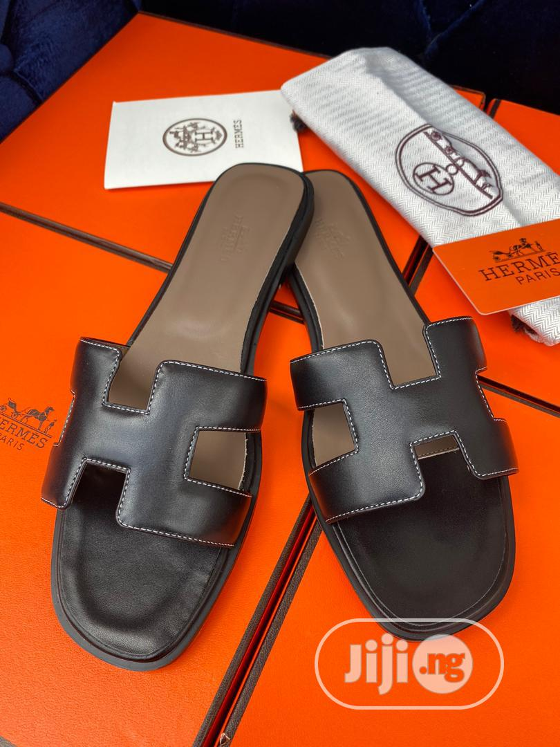 Brown Hermes Slipper for Ladies