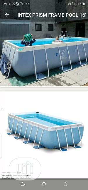 Intex Swimming Pool 16fit by 9 With Ladder | Sports Equipment for sale in Lagos State, Surulere