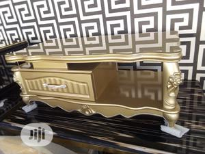 Royal Tv Shelf and Center Table Gold Color   Furniture for sale in Lagos State, Surulere
