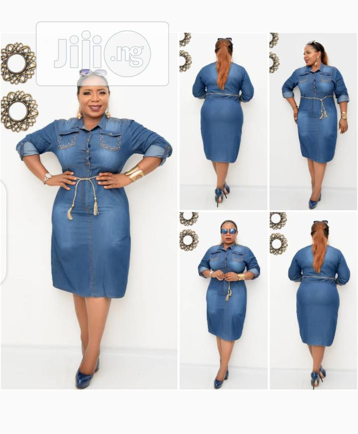 New Female Turkey Blue Jeans Gown | Clothing for sale in Lagos Island, Lagos State, Nigeria