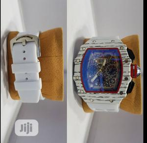 Richard Mille Men's White Rubber Wristwatch. | Watches for sale in Lagos State, Surulere