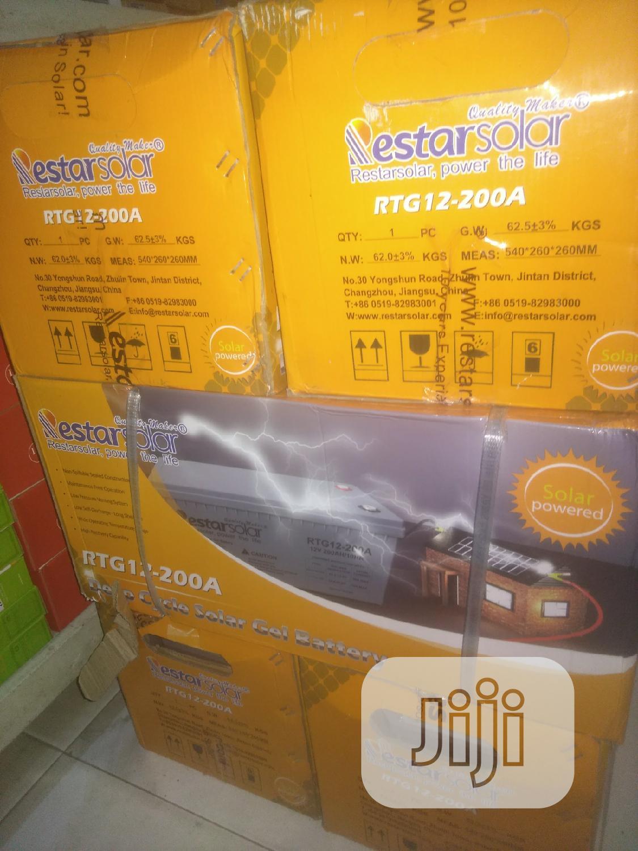 200ah/12v Gel Solar Battery