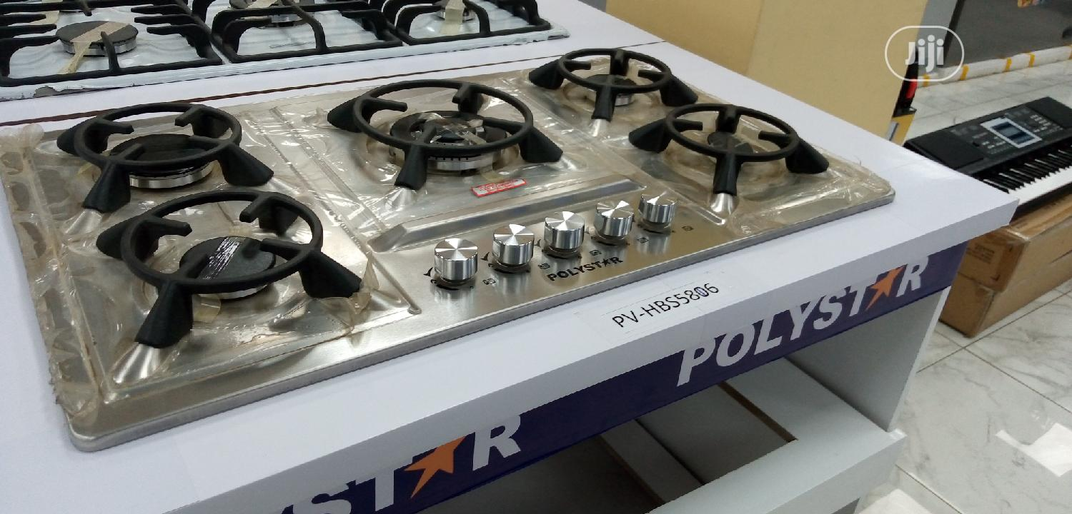 New Arrival Polystar 5burners Cabinet Gas Cooker Automatic Original
