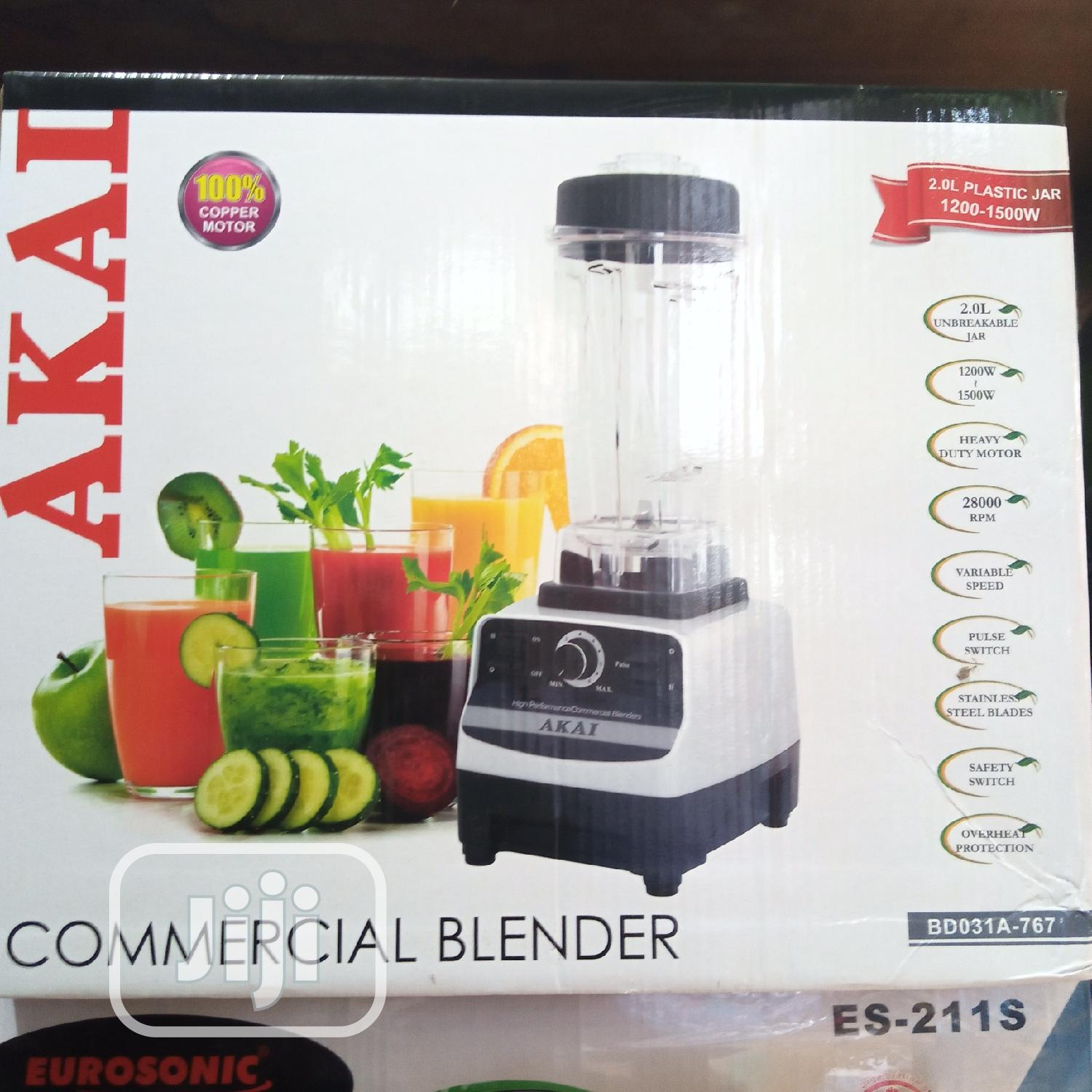 AKAI Heavy Duty Commercial Blender With Ice Crusher- 1500W