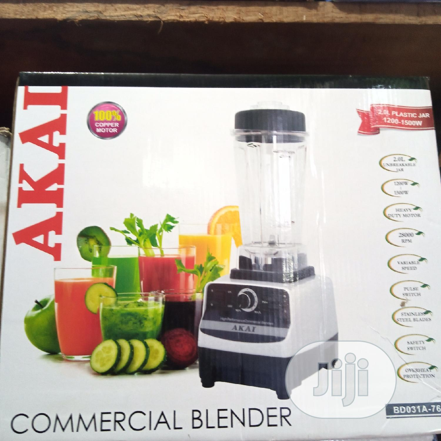 AKAI Heavy Duty Commercial Blender With Ice Crusher- 1500W   Restaurant & Catering Equipment for sale in Ojo, Lagos State, Nigeria
