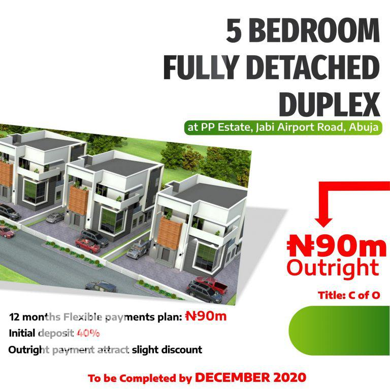 5 Bedroom Fully Detached Duplex | Houses & Apartments For Sale for sale in Jabi, Abuja (FCT) State, Nigeria
