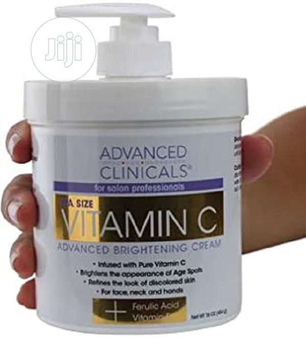 Vitamin C Advanced Brightening Cream. Anti-aging Cream 16oz