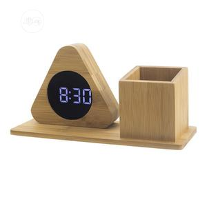 Wooden Clock With Pen Stand | Home Accessories for sale in Lagos State, Lagos Island (Eko)