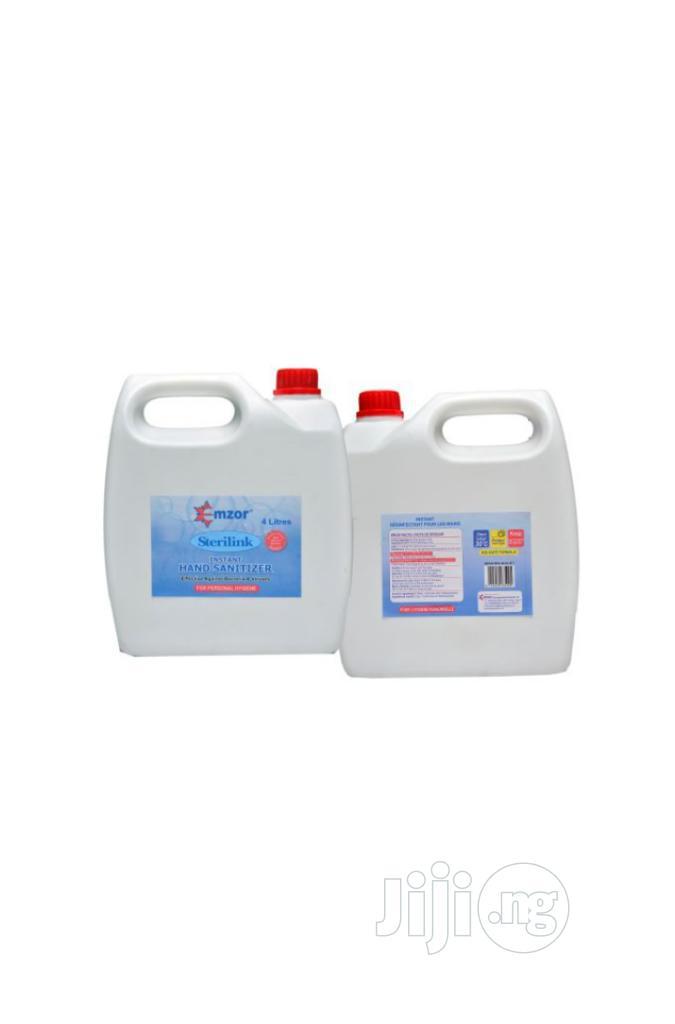 Hand Sanitizer 4litres Emzor Sterilink | Skin Care for sale in Ajah, Lagos State, Nigeria