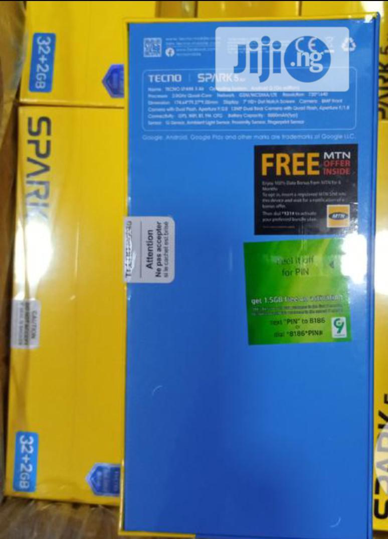 New Tecno Spark 5 Air 32 GB | Mobile Phones for sale in Ikotun/Igando, Lagos State, Nigeria