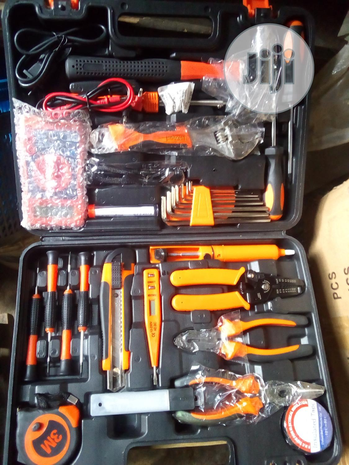 Portable Set Of Electrical Tools Box