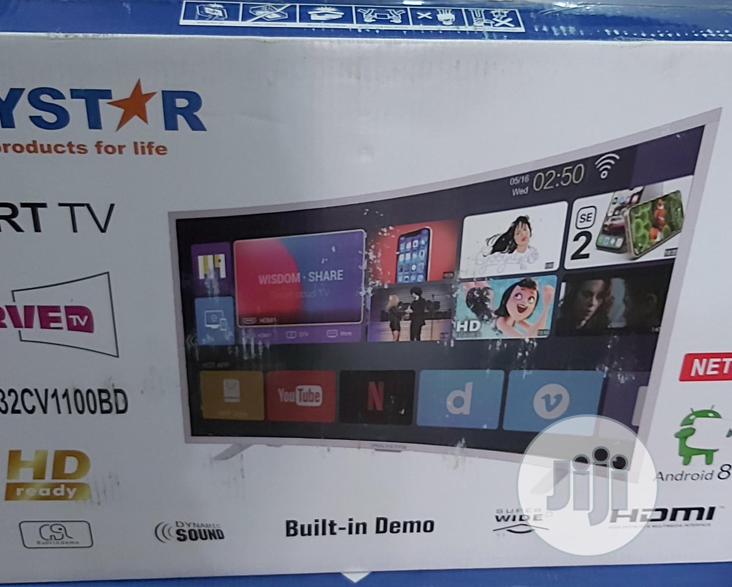 Polystar SMART Curved TV Pv-Jp32cv1100bd | TV & DVD Equipment for sale in Gwagwalada, Abuja (FCT) State, Nigeria