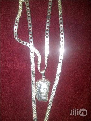 Pure ITALY 925 Mixed Blade And Carpet Wit Jesus Piece   Jewelry for sale in Lagos State, Lagos Island (Eko)