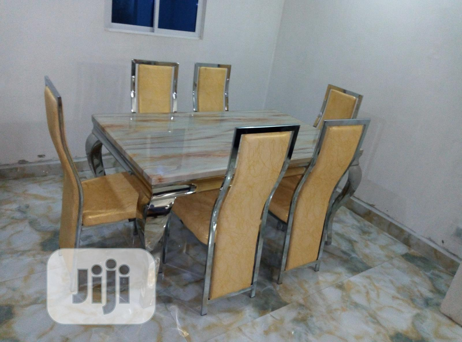Super Quality Imported Marble Dinning Set With 6 Chairs