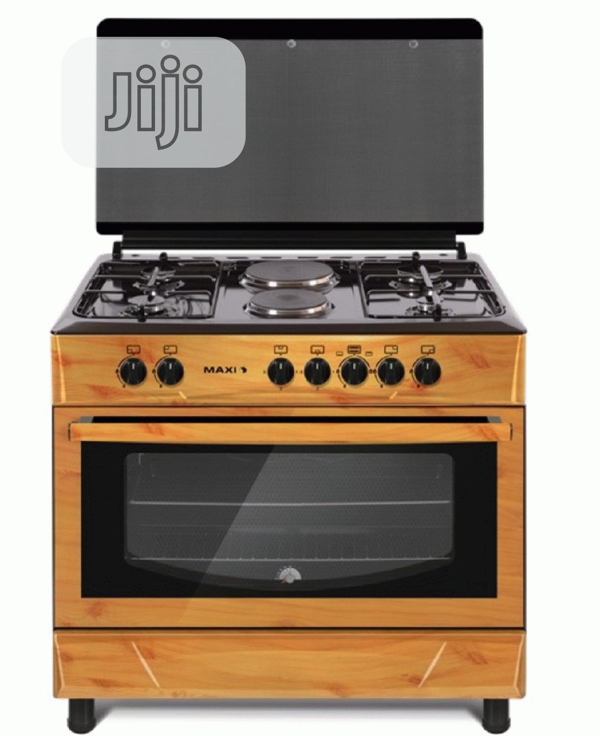 Brand New MAXI Gas Cooker 60*90 (4 + 2 ) Wood Colour