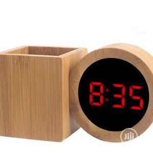 Table Wooden Digital Clock With Penholder | Home Accessories for sale in Lagos State, Surulere